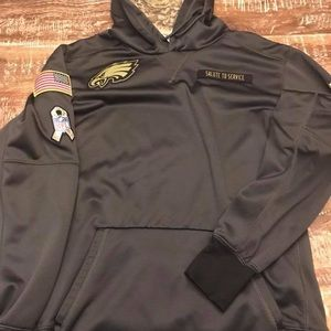 competitive price 33ad9 a0751 eagles salute to service hoodie xxl